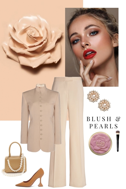 Blush and pearls
