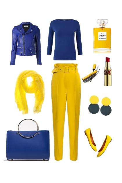 Синий и  жёлтый- Modna kombinacija