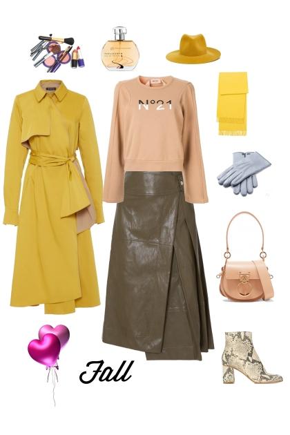 Кожаная юбка   свитшот- Modna kombinacija