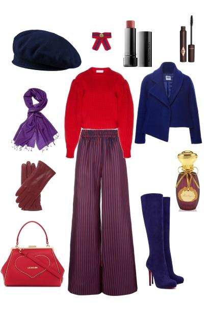 Синий   красный = фиолетовый- Modna kombinacija