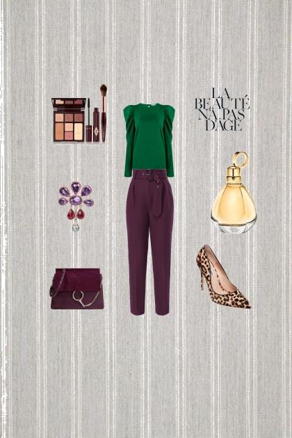 Зелёный   фиолетовый