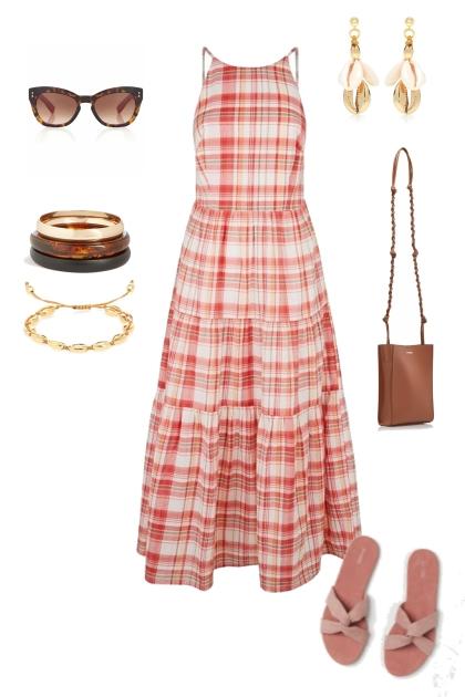 caribbean midi dress