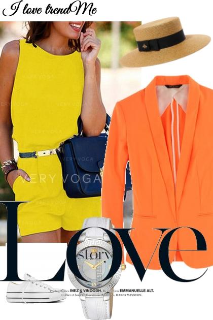 Gelb mit Orange