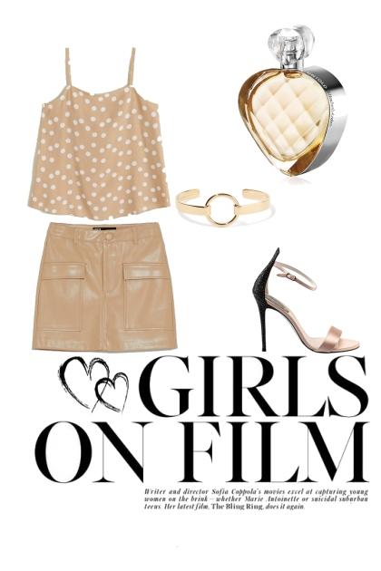 Girls on film- combinação de moda