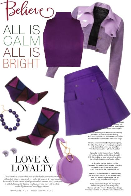 Believe in purple