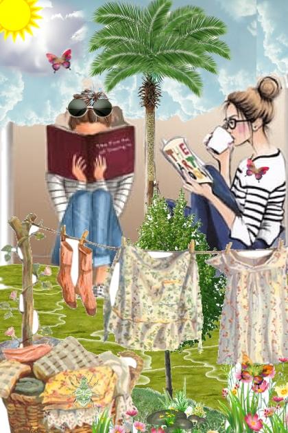 Reading in the garden....