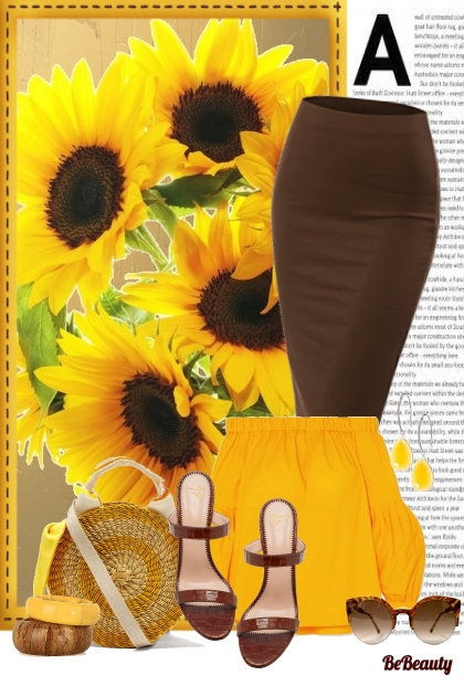 nr 124 - Sunflowers Inspired- Fashion set