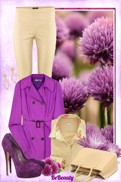 nr 298 - Purple and beige