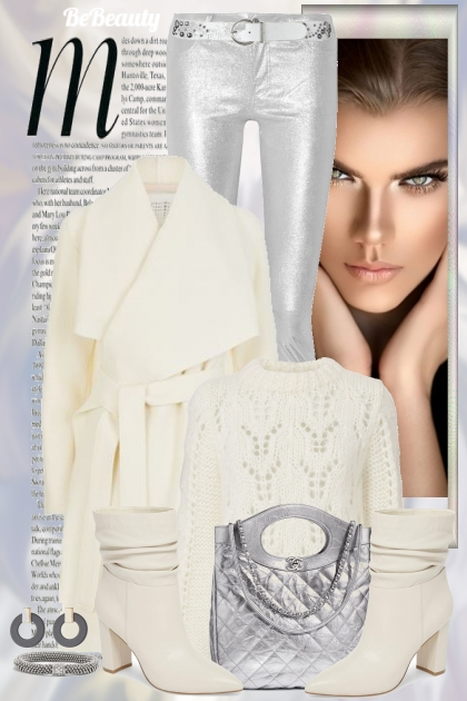nr 338 - Silver & white