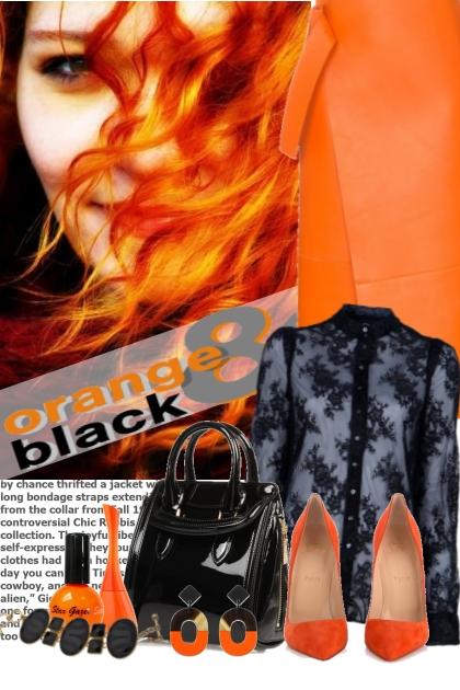 nr 455 - Orange - Black