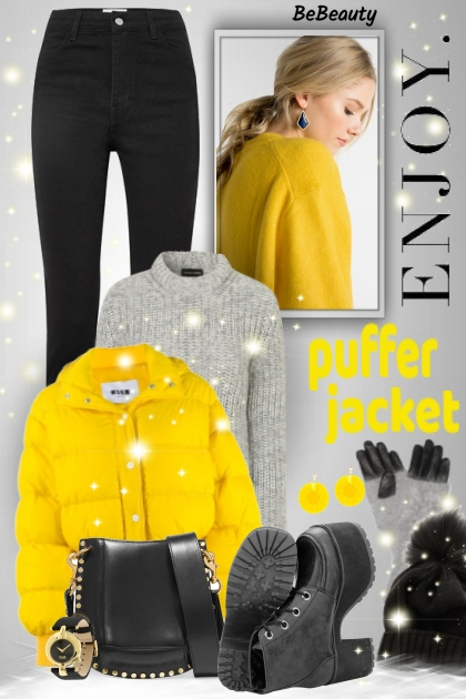 nr 584 - Enjoy the Winter - wear puffer jacket