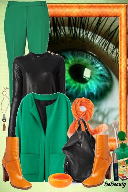 nr 587 - Green-Orange-Black