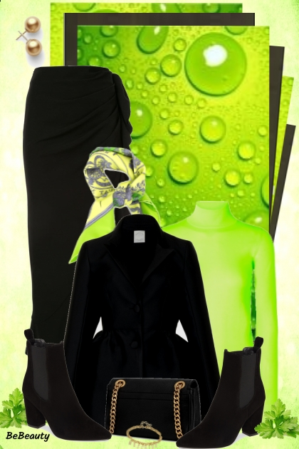 nr 615 - Juicy green - black