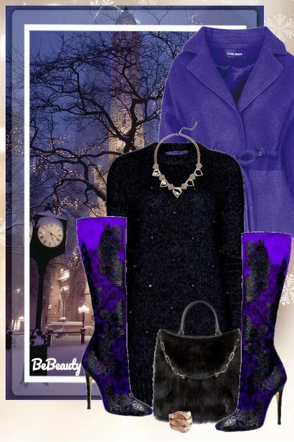 nr 671 - Purple and black- コーディネート