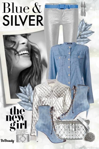 nr 811 - Blue & silver