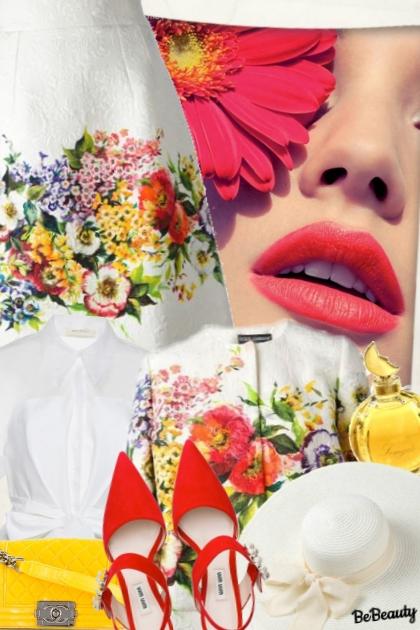 nr 821 - Flower Power- Combinaciónde moda