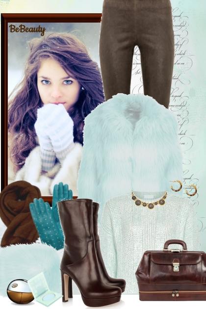 nr 828 - Mint and brown- combinação de moda