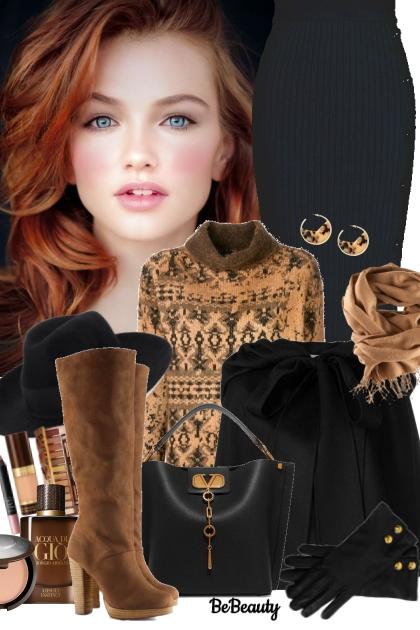 nr 872 - Winter Day- combinação de moda