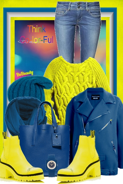 nr 881 - Be positive - think colorful :D- combinação de moda