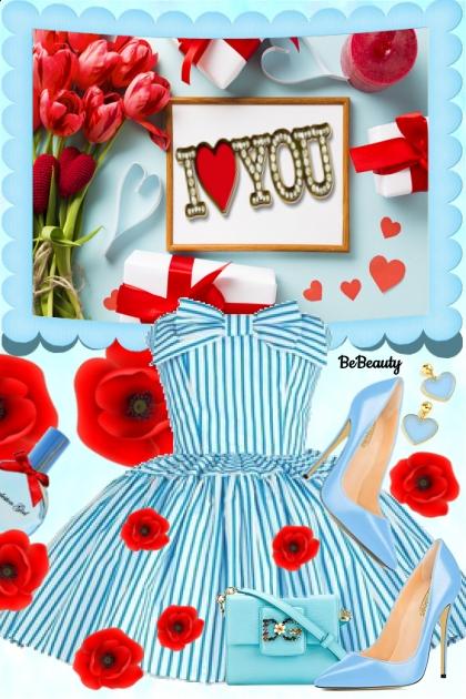 nr 910 - I ♥ You- Fashion set