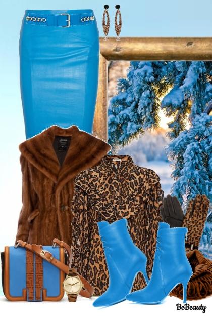 nr 947 - Blue and brown- combinação de moda
