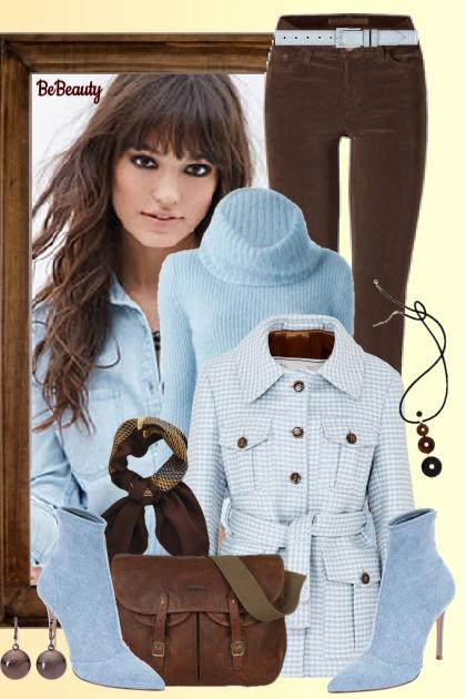 nr 958 - Blue and brown- combinação de moda