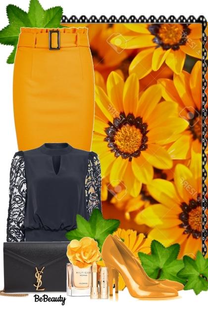 nr 1049 - Black & orange- Fashion set