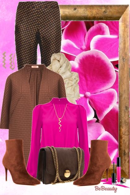 nr 1078 - Brown & hot pink
