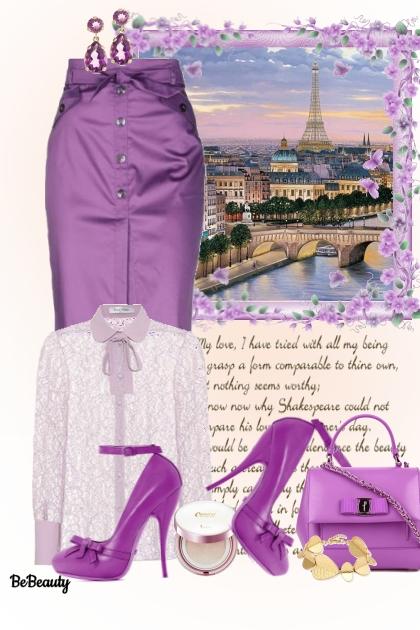 nr 1192 - Purple shades- Fashion set