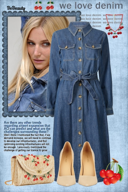 nr 1253 - Denim dress