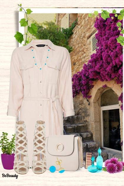 nr 1333 - Shirt dress- Modna kombinacija