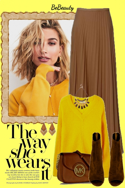 nr 1354 - Sweater & maxi skirt