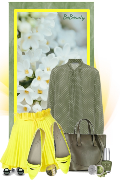 nr 1395 - Olive-yellow- Fashion set