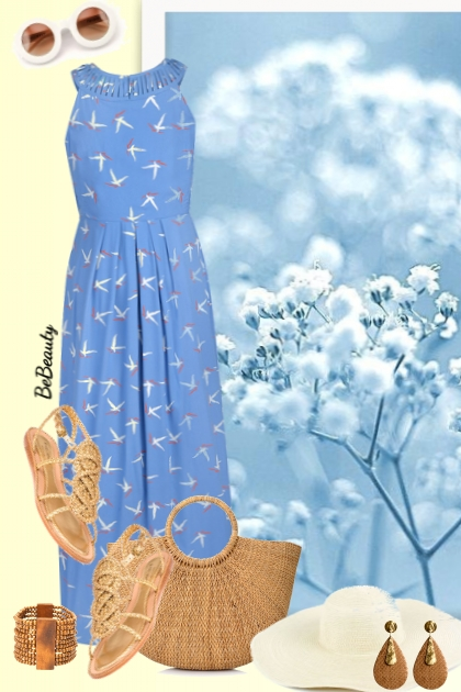 nr 1495 - Summer maxi dress