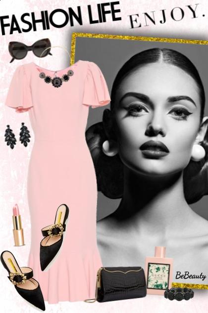 nr 1593 - Pink & black