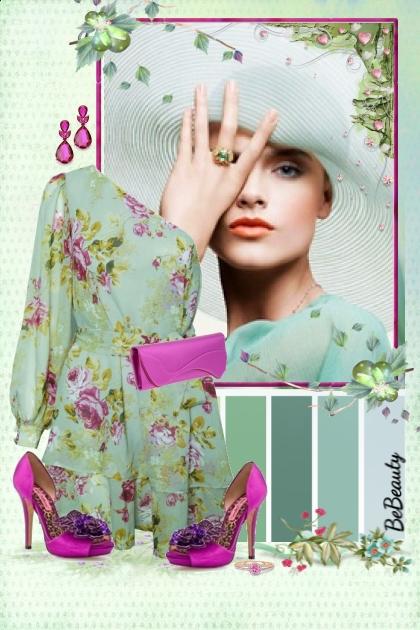 nr 1598 - Floral dress