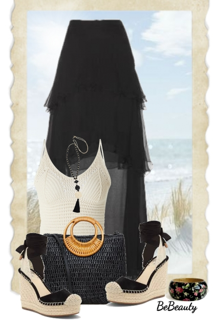 nr 1646 - Black maxi skirt