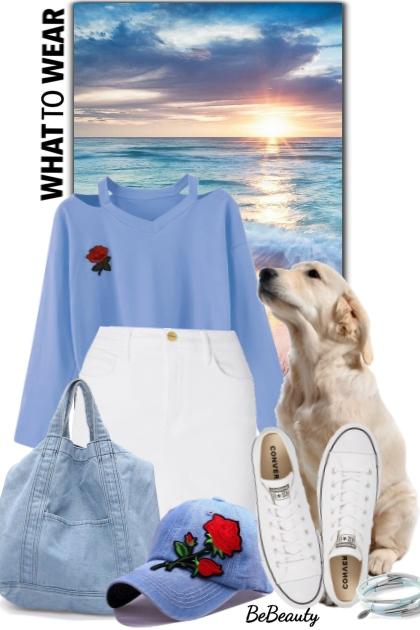 nr 1673 - Walking with the dog- Fashion set