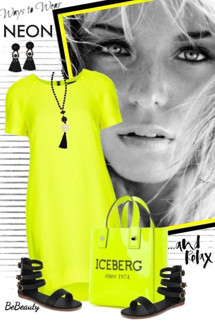 nr 1678 - Way to wear neon dress- Fashion set