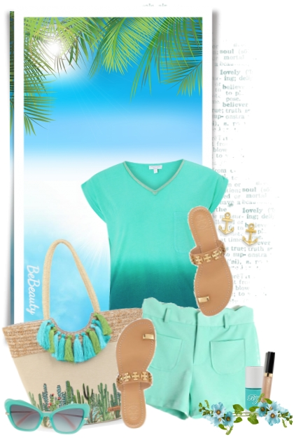 nr 1682 - Turquoise love- Fashion set