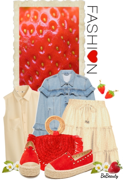 nr 1683 - Strawberry inspired- Fashion set