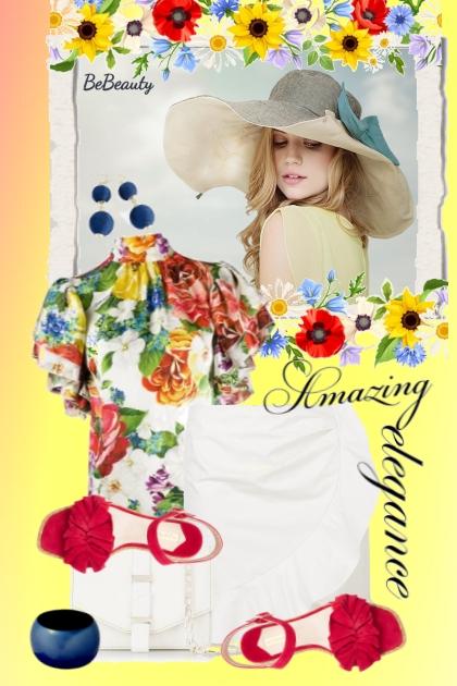 nr 1710 - Floral top