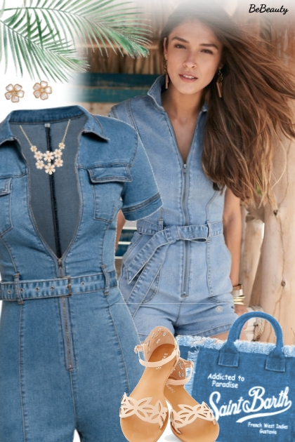 nr 1727 - Denim romper