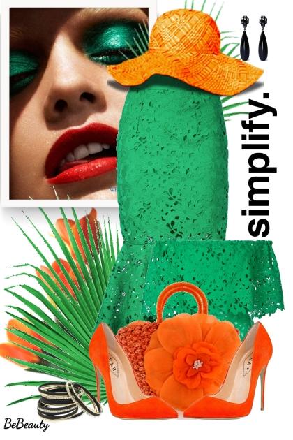 nr 1742 - Orange & green
