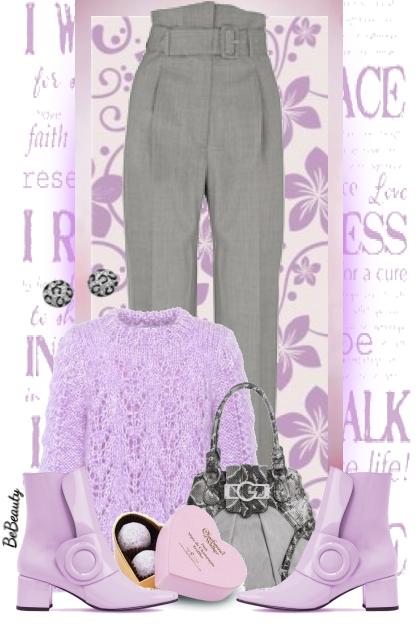 nr 1839 - Lilac & grey
