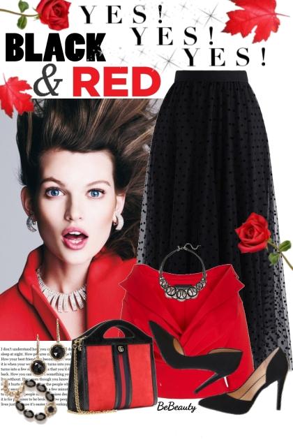 nr 1859 - Black - red