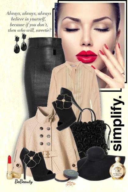 nr 1967 - Beige & black- Fashion set