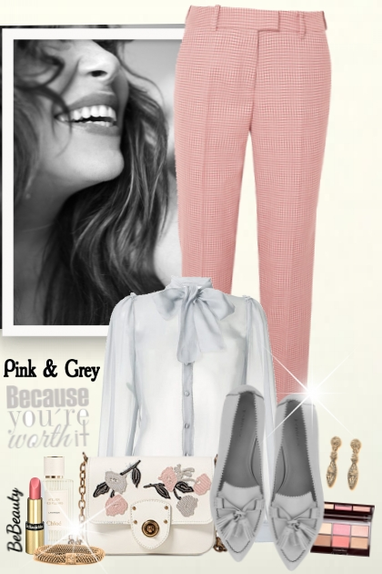 nr 1974 - Pink & grey