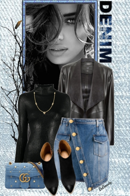 nr 2068 - Black & denim