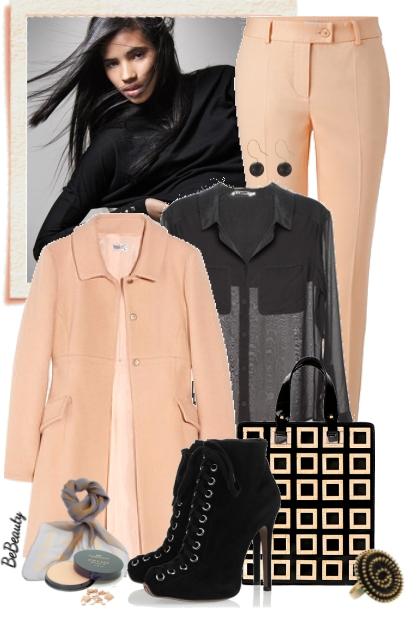 nr 2246 - Black & peach